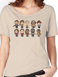 The Walking Dead - Main Characters Chibi - AMC Walking Dead Women's Relaxed Fit T-Shirt