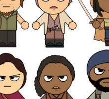 The Walking Dead - Main Characters Chibi - AMC Walking Dead Sticker