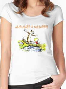Calvin and Hobbes' Wonderful Adventure Women's Fitted Scoop T-Shirt
