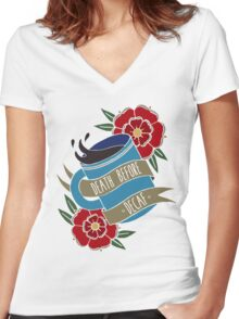 Death Before Decaf  Women's Fitted V-Neck T-Shirt