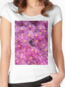 Pink flowers Women's Fitted Scoop T-Shirt