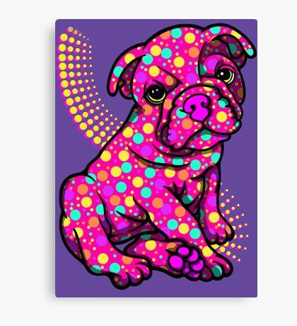 Colourful Dotty Dog  Canvas Print