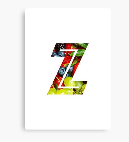 The Letter Z - Fruit Canvas Print