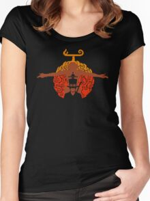 The Eater Of Fire Devil Women's Fitted Scoop T-Shirt