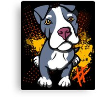 Blue Pit Bull Pup  Canvas Print
