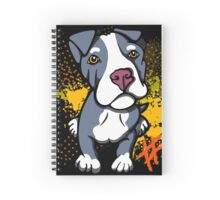 Blue Pit Bull Pup  Spiral Notebook