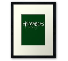 My name is Heisenberg - Graffiti Spray Paint Breaking Bad Framed Print