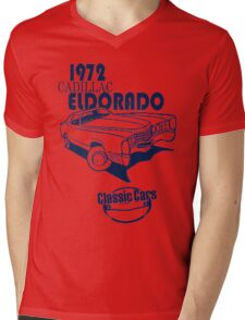 Classic Car 1972 Cadillac Eldorado Mens V-Neck T-Shirt