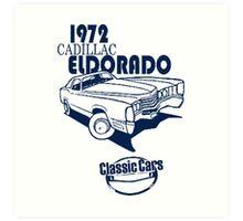 Classic Car 1972 Cadillac Eldorado Art Print