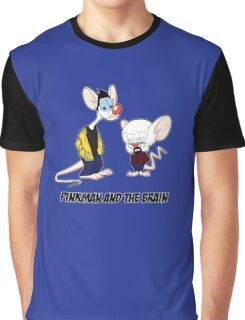 Pinkman and the brain - Breaking Bad/ Pinky and the brain Graphic T-Shirt