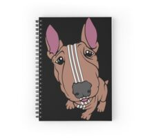 Sporty Bull Terrier Tan and White Spiral Notebook