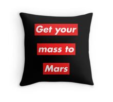 Get Your Mass to Mars (Red Alert) – Pillows & Totes Throw Pillow