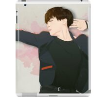 BTS J-Hope on Stage  - Watercolor Brush Backgorund iPad Case/Skin