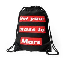 Get Your Mass to Mars (Red Alert) – Drawstring Bags Drawstring Bag