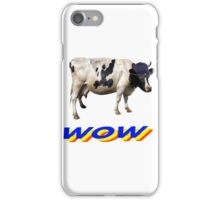 wow cool cow with hat and glasses iPhone Case/Skin