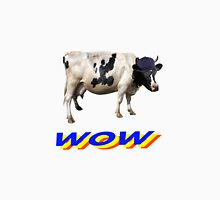 wow cool cow with hat and glasses Unisex T-Shirt