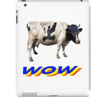 wow cool cow with hat and glasses iPad Case/Skin