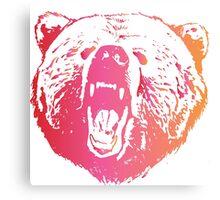 Colorful Bear  Canvas Print