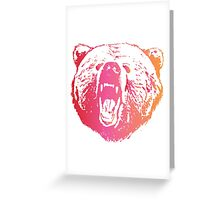 Colorful Bear  Greeting Card