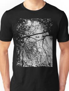 Look Up - Black and White Unisex T-Shirt