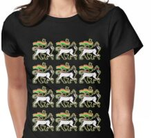 THE LION OF JUDAH Womens Fitted T-Shirt