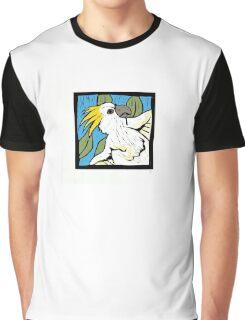 Cockatoo, linocut, colour 1990 Graphic T-Shirt