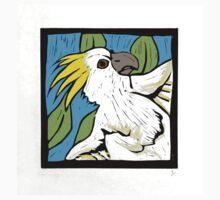 Cockatoo, linocut, colour 1990 One Piece - Short Sleeve