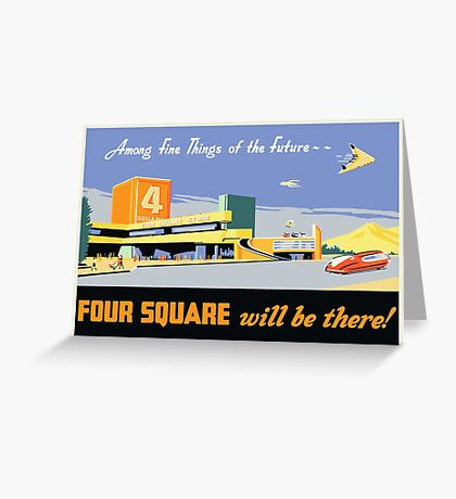 Four Square Fine Things Poster Greeting Card