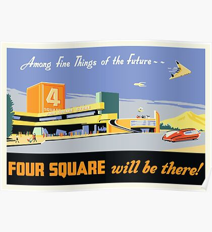 Four Square Fine Things Poster Poster