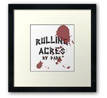 Rolling Acres RV Park Framed Print