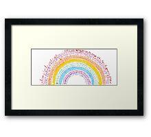 Rainbow baby Framed Print