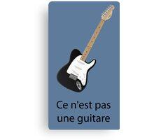 Ce n'est pas une guitare Canvas Print