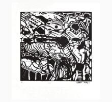 Music, linocut, 1986 One Piece - Short Sleeve