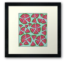Watermelon Slice Party Framed Print