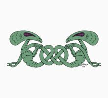 Aliens Entwined Baby Tee