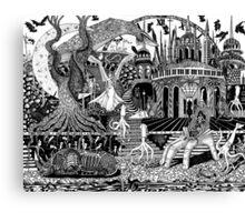 Rhino Dream Hand Canvas Print