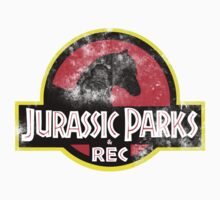 Jurassic Parks and Rec Distressed  One Piece - Short Sleeve