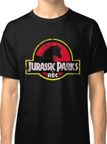 Jurassic Parks and Rec Distressed  Classic T-Shirt