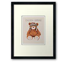 Gambino Bear Framed Print