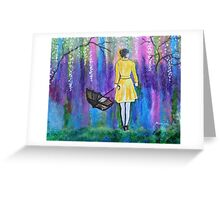Spring Walk Abstract Landscape colorful vibrant Greeting Card