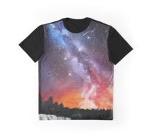 Milky Way on Fire Graphic T-Shirt
