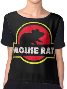 Mouse Rat Distressed Chiffon Top