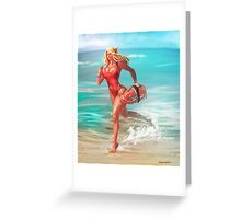 Pamvanas Beachrunner Greeting Card