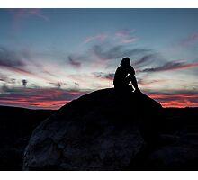 contemplative desert sunset Photographic Print