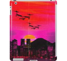 80's city helicopters sunset iPad Case/Skin