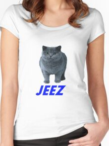 jeez what a cool cat Women's Fitted Scoop T-Shirt