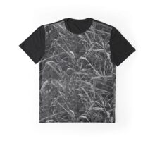 Black and White Weeds Graphic T-Shirt