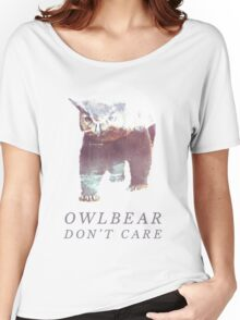 Owlbear Don't Care Women's Relaxed Fit T-Shirt