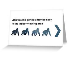 Zoo Notice Greeting Card