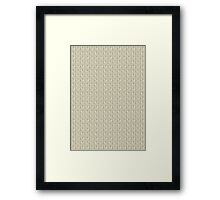 Cast-on stitches: Beige Framed Print